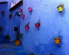 Blue City Morroco 45x55 cm