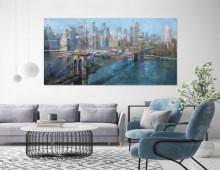 Brooklyn bridge New York city , uramljena slika 50x100cm