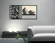 Crno bela kontrast, uramljena slika