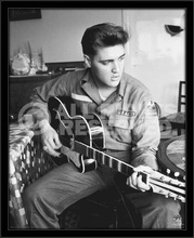 Elvis Presley, framed picture