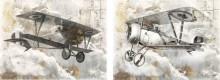 Old war planes, dve uramljene slike 30x40cm svaka