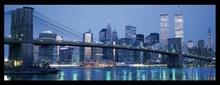Bruklinski most i donji Menhetn, uramljena slika