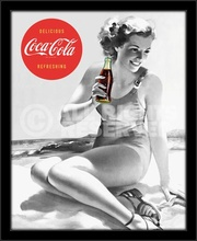 Coca Cola girl, framed picture