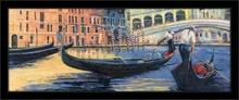 Gondole u Veneciji, komplet uramljenih slika