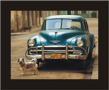 Kuba retro automobil, uramljena slika