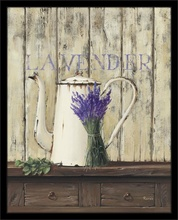 Lavander flowers, framed picture