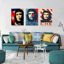 Old posters CHE Guevara , tri uramljene slike 30x40cm svaka