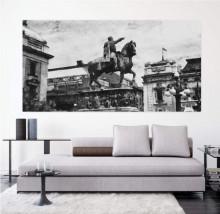 Spomenik Knezu Mihajlu c/b, uramljena slika 50x100cm