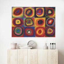 V. Kandinsky , farbtude kvadrates, uramljena slika 70x100cm
