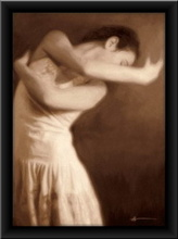 Balerina Polina, uramljena slika