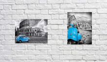 Blue Colosseum, dve uramljene slike 30x40cm svaka