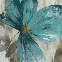 Blue flower 1, uramljena slika dimenzije 70x70cm