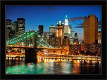 Bruklin most noću, uramljena slika