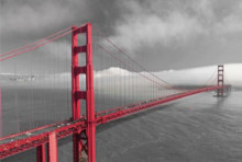 Golden Gate bridge, uramljena slika 70x100cm