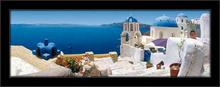 Grčki gradić, uramljena slika