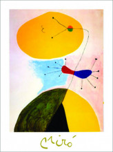 J. Miro, Portrait , uramljena slika 40x50cm