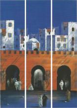 Medina, uramljena slika komplet od tri slike, 23x100cm svaka
