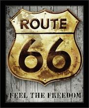 Route 66 Feel the freedom, framed picture