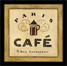 Svet kafe, tri uramljene slike