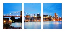 Brooklyn bridge triptych, uramljena slika 50x100 cm
