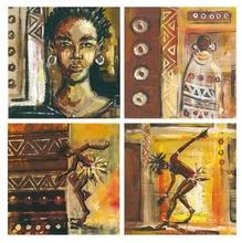Crna lepotica, komplet od četiri slike