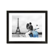 Eiffel kiss, framed picture