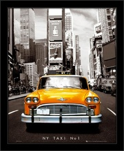 NY Taxi NO1, framed picture