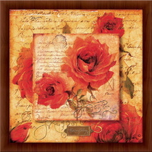Romantic rose, framed picture