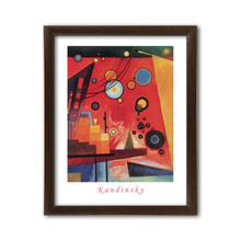Schweres rot, Wassily Kandinsky, uramljena slika