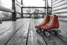 Stare crvene rolsue, uramljena slika