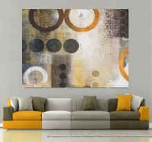 Yellow O, uramljena slika 70x100cm