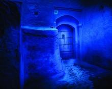 Blue city 1, uramljena slika