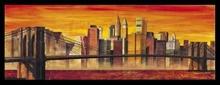 Bruklinski most u boji, uramljena slika