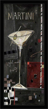 Martini, Pina Colada, Margarita, Cosmopolitan, komplet uramljenih slika