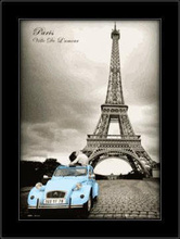 Pariz 3D framed picture