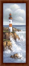 Red lighthouse, framed picture