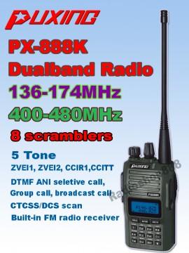 Slika Puxin 888K rucna radiostanica toki voki duoband vhf uhf ccir id mdc