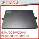 Tri-Band GSM/DCS/WCDMA( 900MHz/1800MHz/2100MHz) Mobile Signal Repeater/Booster/Amplifier Cover 300-1200m2