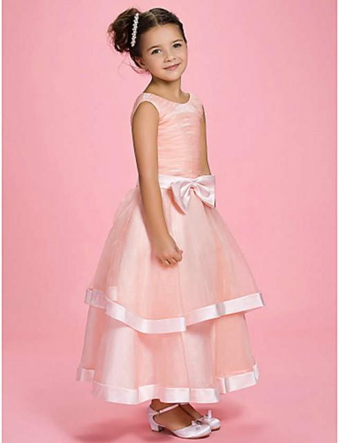 Haljina Za Devojcice Od Satena I Tila Sa Masnom