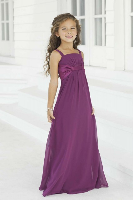 Chiffon Flower Girl Dress With Satin Lining