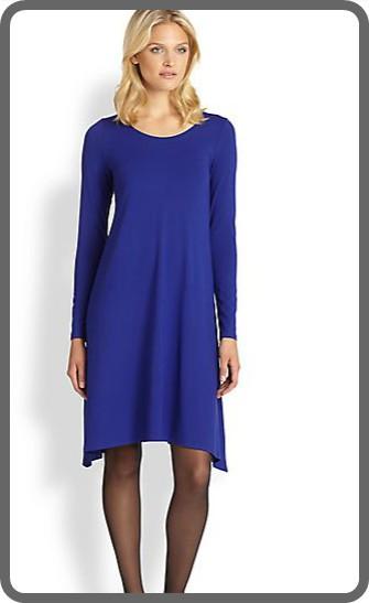 Slika Jednostavna plava haljina