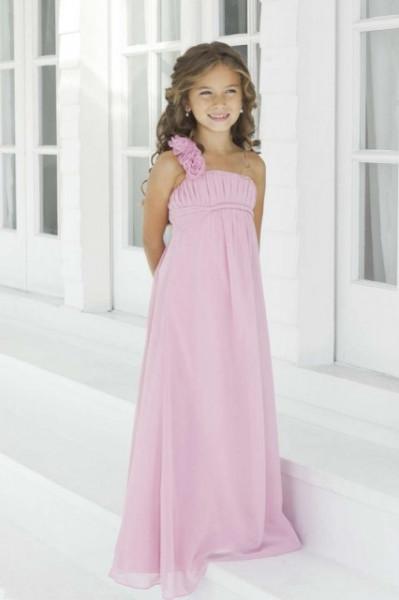 Slika Roze haljina za devojcice od muslina