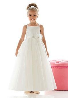 Slika Dugacka svecana haljina sa tilom i cvetom