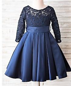 Svecana haljina od cipke sa faltama na suknji