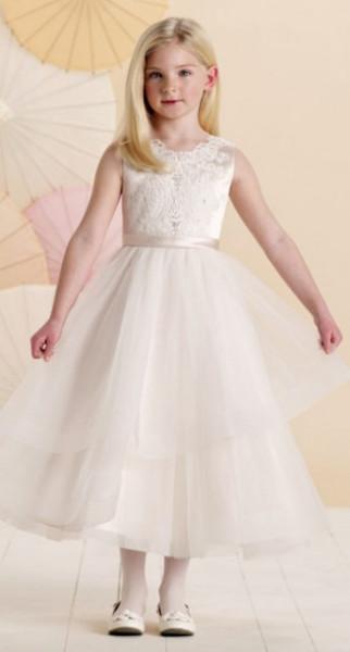 Slika Satenska haljina u neznim bojama sa tilom