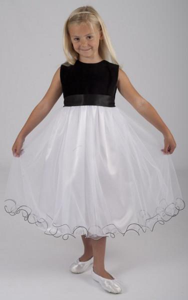Crno bela satenska haljina sa masnom na ledjima