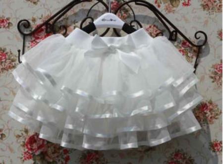 Slika Bela tutu suknja sa saten trakom