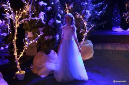 Raskosna haljina sa 3d cvetovima i tilom