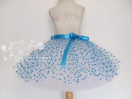 Tutu suknja sa tilom na tackice u vise boja