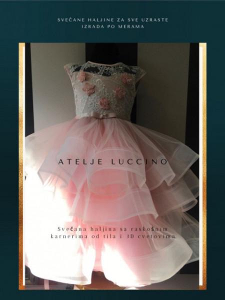 Raskošna haljina sa cipkom i cvetovima